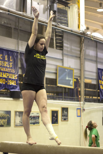 Women's gymnastics ends season with undefeated record
