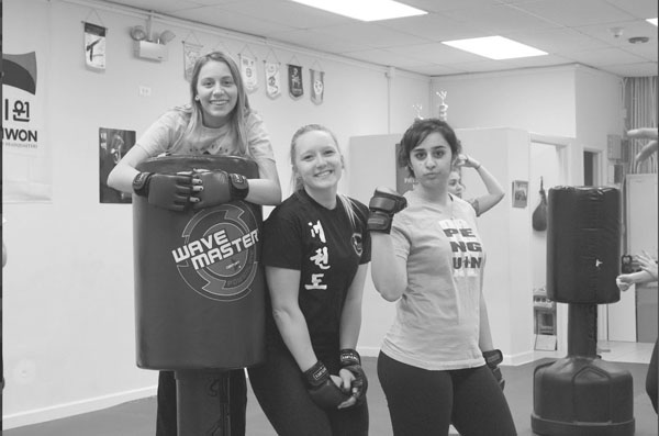 South students strike interest in kickboxing classes