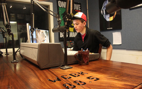 Woods, Radio work together, construct new broadcast table