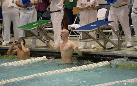 Men's swim & dive places third at state