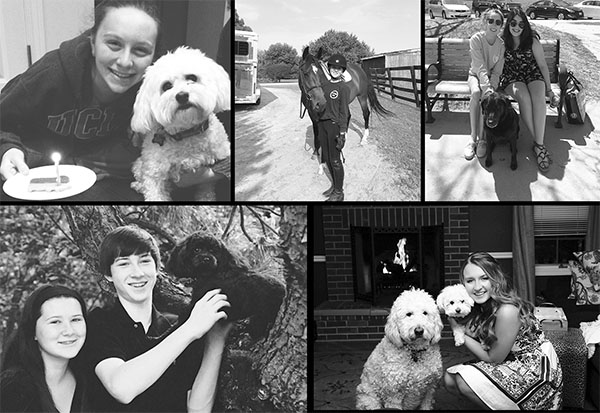 Smiling lovingly, members of The Oracle Editorial Board pose with their beloved animal companions.  Growing up with animals teaches children valuable lessons.  Photos courtesy of the Editorial Board