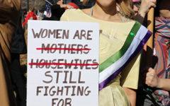 Current political climate draws teachers to women's march on Washington, D.C.