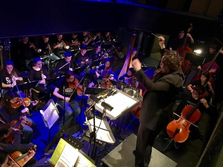 Conducting+Kaplan%3A+Performing+music+from+the+musical%2C+Sweeney+Todd%2C+the+orchestra+for+the+All+State+Musical+is+led+by+Aaron+Kaplan%2C+Glenbrook+Symphony+Orchestra+director.+The+orchestra+contained+students+from+South+and+schools+across+Illinois.