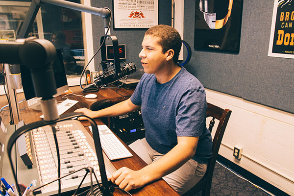 MONDAY WITH MANNY: On air for WGBK, senior Manny Martinez discusses baseball topics on his radio show Colombian Clubhouse which airs on Monday's at 5:30. In addition to WGBK, Martinez also is a part of South's TV program.