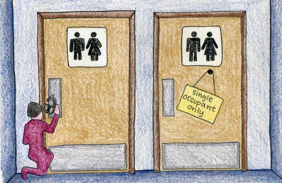 Administration+removes+locks+from+gender+neutral+bathrooms
