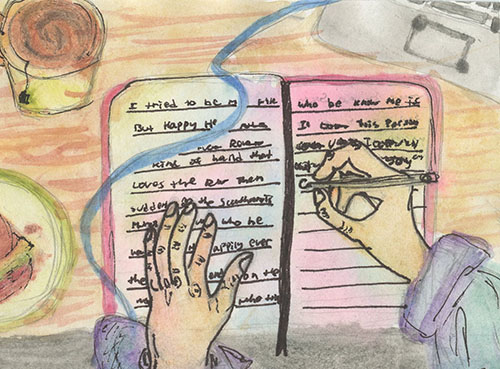 Students find escape through journaling and blogging, honor personal memories