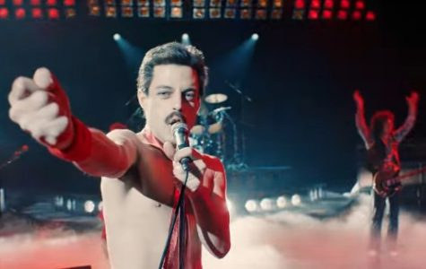 MAGNETIC   MERCURY:  Thrusting his hand in front of him, lead singer of the rock band Queen, Freddie Mercury, draws the crowd into the show. The movie Bohemian Rhapsody focuses on the lives and the loves of the members of Queen. Source: The Independent