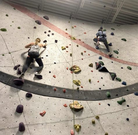 Rock climbing challenges physical strengths