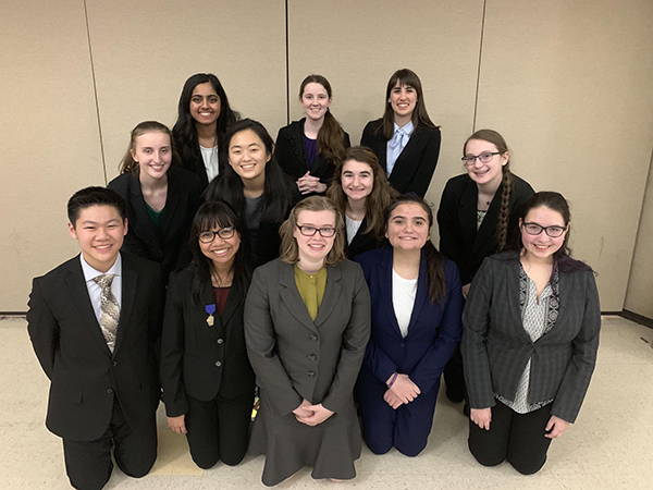 Fearless Fellows :  Waiting for sectionals to begin, Speech Team members are willing to face the common fear of public speaking through a variety of speeches including dramas. comedies and poems. This year's sectionals took place at Glenbrook North.