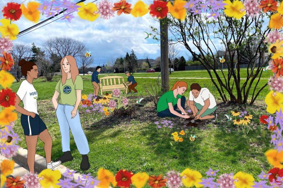 Pollinator garden unites clubs at South