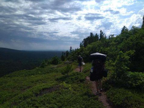 Avid Adventurer: Bryan Scheffler hikes through the Porcupine Mountains.