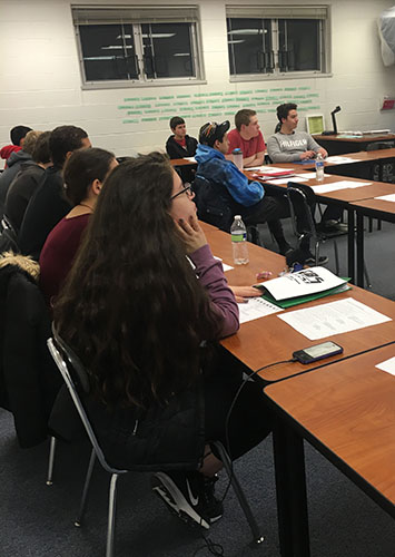 Focusing their attention, a GBS ACT prep class learns test-taking strategies. These classes enable students to perform better on the ACT, providing a more complete picture of their academic abilities.
