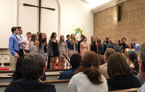On May 26, 2017, the Chamber singing group performed at St. David's Church. This performance was the last of the school year.