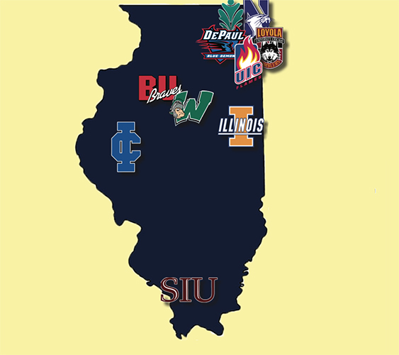 Colleges In Illinois Map Illinois Colleges – The Oracle