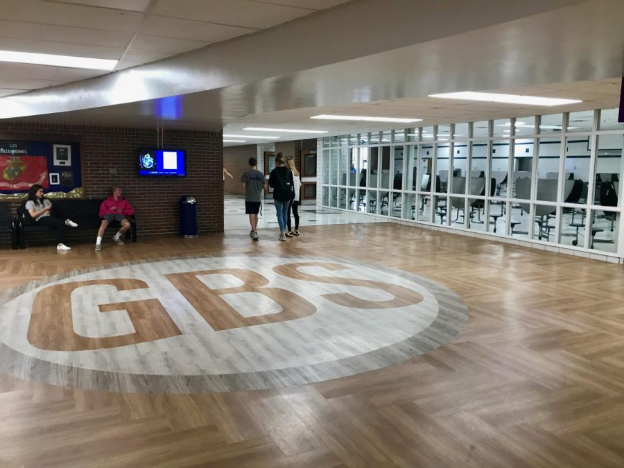 This summer, the floors outside the cafeteria and auditorium were remodeled.