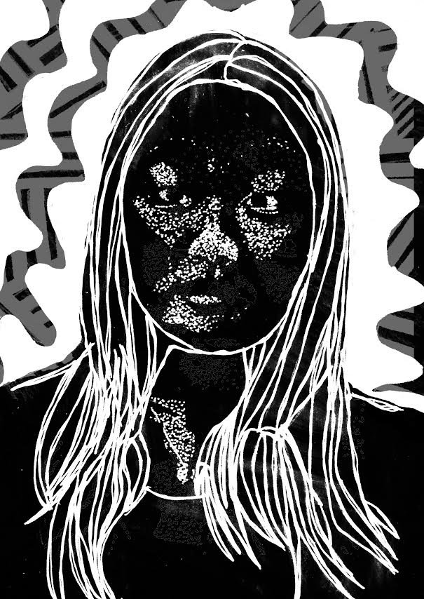 South alum Sarah Kim creates  portraits during her classes at Parsons University, where she is currently a freshman majoring in Communication Design