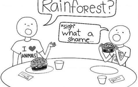 Amazon rainforest burns; solution found in veganism