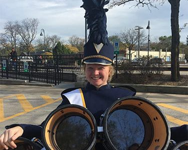 Claire Dunne Murphy, student in Shannon Rovers Irish Pipe Band