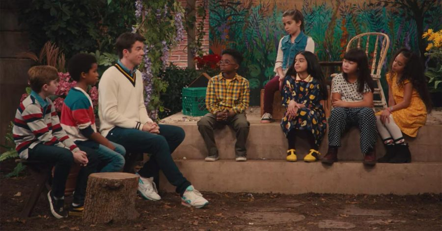 "Comedic Cast: Sitting amongst a group of children, Mulaney discusses existential topics with his ""kid pals,"" including their biggest fears and the purpose of life. John Mulaney & the Sack Lunch Bunch reminds its audiences that a good laugh and good deeds can go a long way. Source: Netflix"