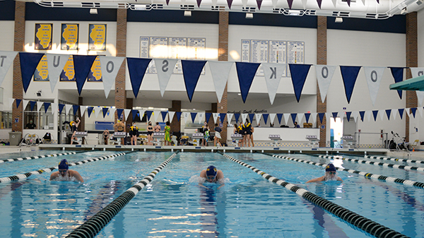 Diving In: Practicing at the South pool, girls' swim and dive has not been allowed to travel for meets this year. Instead, they have been forced to compete virtually, with no semblance of whether or not they are ahead in the race.