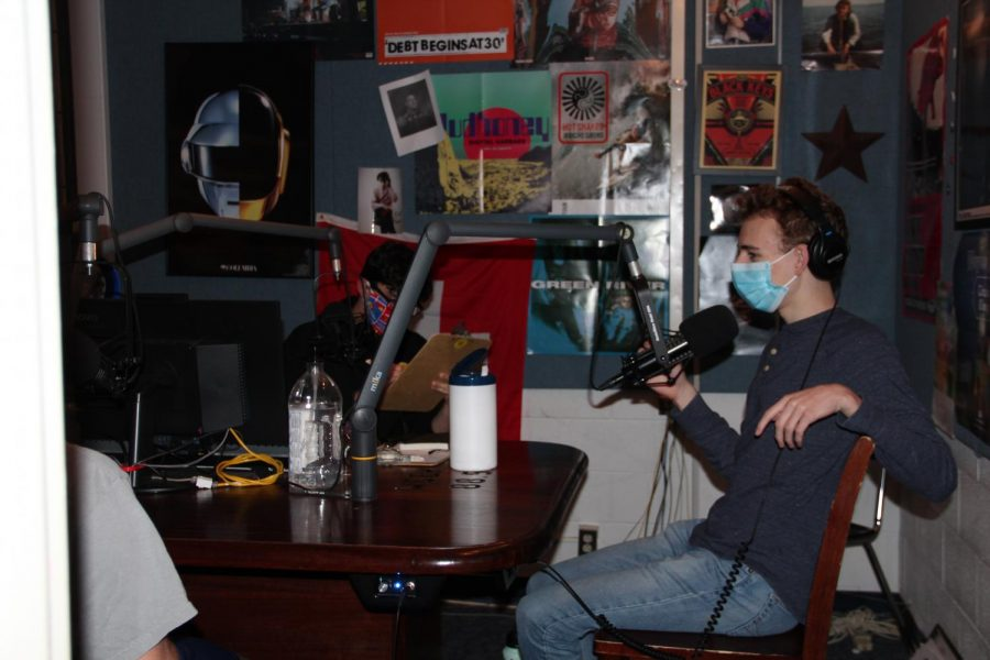 Talkative Tommy: Donning his mask, Tommy Marquardt, co-host of the WGBK's That Sports Show, continues to give listeners insight on sports despite the challenges posed to radio by Covid-19.